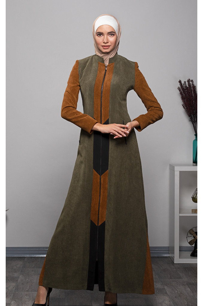 Formal Winter Corduroy Multi-Colored Abaya