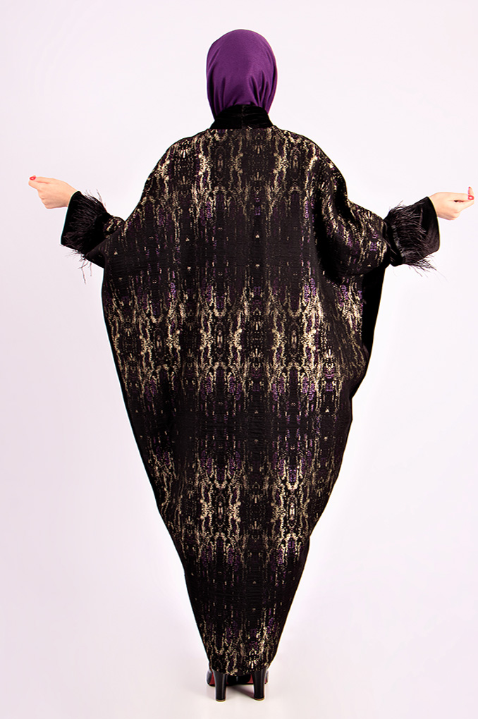 Stylish Multi-Colored Butterfly Abaya