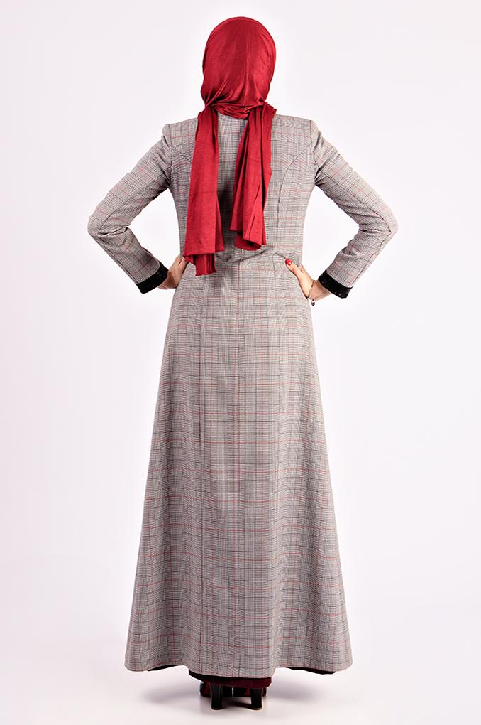 Formal Winter Checkered Abaya