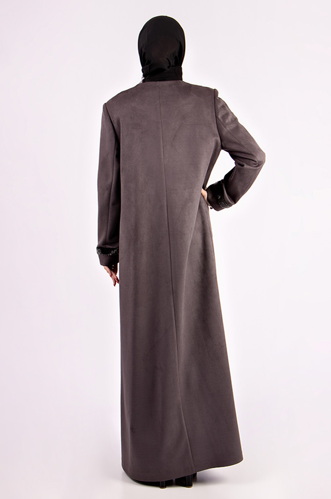 Formal decorated Winter Suede Jilbab