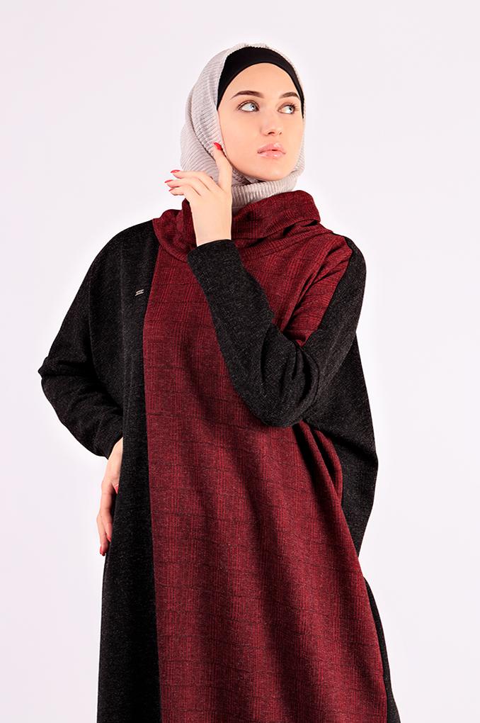 Multi-Colored Casual Winter knitwear Abaya